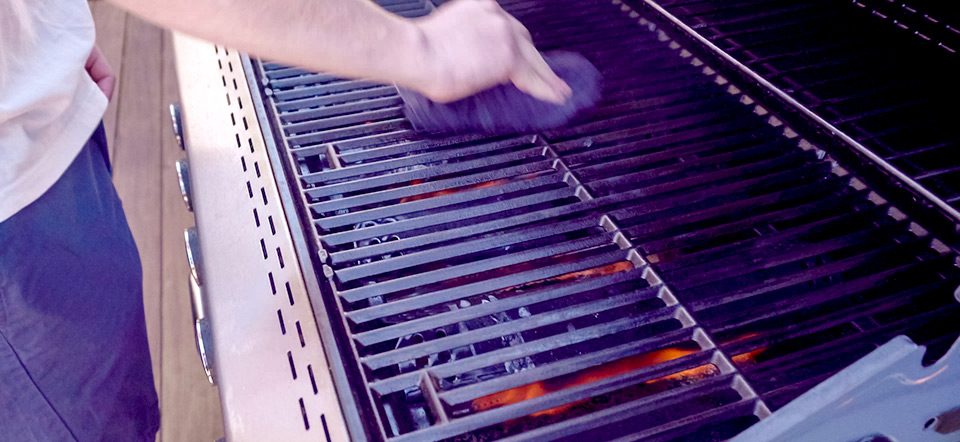 burning-off-grill